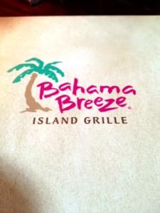 Bahama Breeze Menu